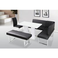 Product photograph showing Liberty Bench Corner With Back Pu And Chrome