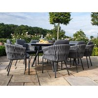 Product photograph showing Marina 8 Seat Oval Dining Set