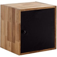 Product photograph showing Maximo Cube With Door Oak