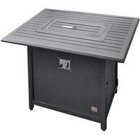 Product photograph showing Mercury Aluminium Square Fire Pit Table