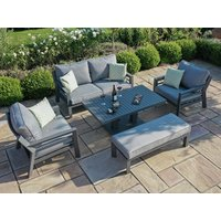 Product photograph showing New York 2 Seat Sofa Set With Rising Table