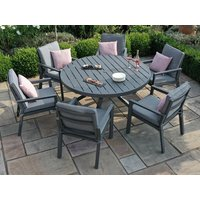 Product photograph showing New York 6 Seat Round Dining Set