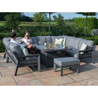 Product photograph showing New York U-shaped Sofa Set With Firepit Table