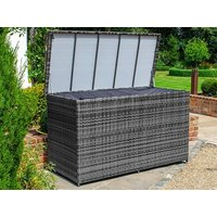 Product photograph showing Large Rattan Storage Box With Cover
