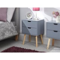 Product photograph showing Nyborg 2 Drawer Bedside