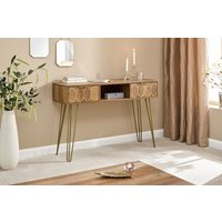 Product photograph showing Orleans 2 Drawer Console Desk