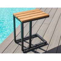 Product photograph showing Oslo Teak Side Table
