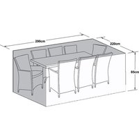 Product photograph showing Outdoor Cover For 8 Seat Rectangular Dining Set