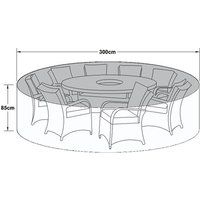 Product photograph showing Outdoor Cover For 8 Seat Round Dining Set