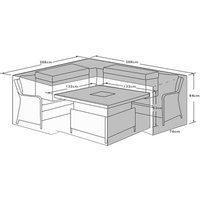 Product photograph showing Outdoor Cover For Large Square Corner Set
