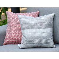 Product photograph showing Outdoor Scatter Cushion - Bora Bora Grey