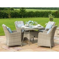 Product photograph showing Oxford 4 Seat Round Dining Set With Venice Chairs