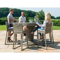 Product photograph showing Oxford 6 Seat Round Bar Set With Ice Bucket