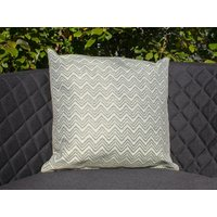 Product photograph showing Pair Of Outdoor Scatter Cushion - Polines Green