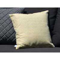 Product photograph showing Pair Of Outdoor Scatter Cushion - Polines Yellow