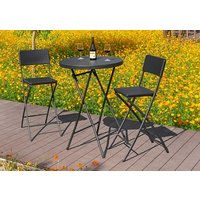Product photograph showing Palermo Rattan Effect Bar Table Set