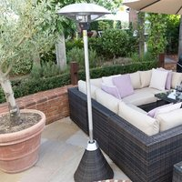 Product photograph showing Patio Heater - 2100w Rattan Free Standing
