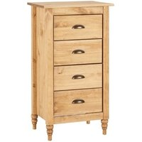Pembroke 4 Drawer Narrow Chest Pine