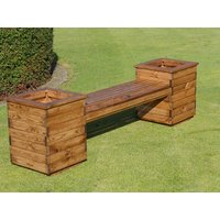 Product photograph showing Two Seater Square Planter Bench