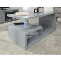 Product photograph showing Polar High Gloss Led Coffee Table