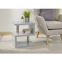 Product photograph showing Polar High Gloss Led Side Table