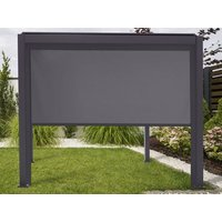 Product photograph showing Pull Down Screen For Titan 4m Pergolas