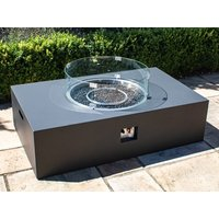 Product photograph showing Rectangular Gas Fire Pit