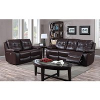 Product photograph showing Rockport Power Recliner Leather And Pu 2 Seater Sofa