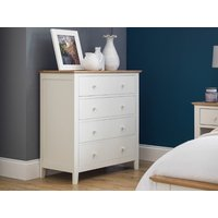 Product photograph showing Salerno Shaker 4 Drawer Chest Two Tone