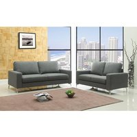 Product photograph showing Sally Fabric 2 Seater Sofa Grey
