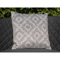 Product photograph showing Pair Of Santorini Fabric Scatter Cushions