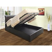 Product photograph showing Savona Pu Faux Leather Ottoman Storage Bed