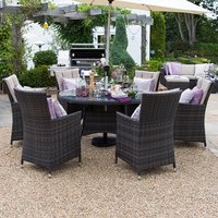 Product photograph showing Sienna 6 Seat Dining Set - 1 3m Round Table