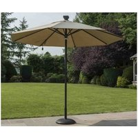Product photograph showing Solar Automatic Opening Closing Taupe Umbrella 3 0m