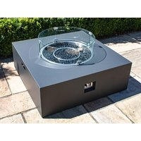 Product photograph showing Square Gas Fire Pit