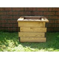 Product photograph showing Square Planter