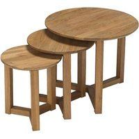 Product photograph showing Stow Nest Of Tables Oak