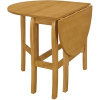 Heartlands Furniture Tidbury Oval Gateleg Dining Table Light Oak