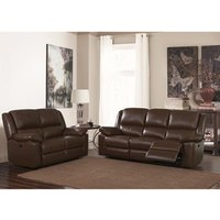 Product photograph showing Toledo Recliner Leather And Pvc 2 Seater Sofa