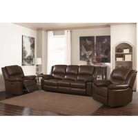 Product photograph showing Toledo Recliner Leather And Pvc Armchair