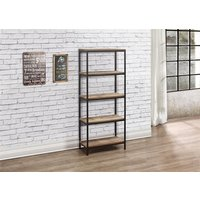 Product photograph showing Urban 5 Tier Bookcase Rustic
