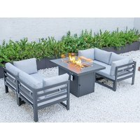Product photograph showing Verona Modular Sofa Set With Firepit Table