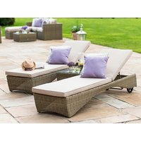 Product photograph showing Winchester 3 Piece Sunlounger Set