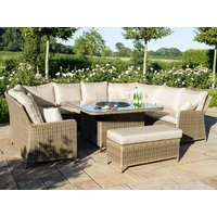 Product photograph showing Winchester Royal U-shaped Sofa Set With Fire Pit