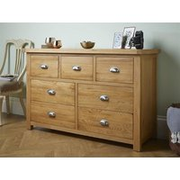 Product photograph showing Woburn 4 And 3 Drawer Chest Oak