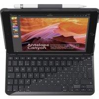 Logitech Slim Folio Bluetooth QWERTZ Zwitsers Zwart toetsenbord voor mobiel apparaat