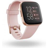 Fitbit Versa 2 smartwatch Zwart, Roségoud AMOLED 3,55 cm (1.4 )