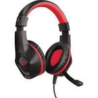 Trust GXT404B Rana Gaming headset 3.5 mm jackplug Kabelgebonden Over Ear Zwart, Rood