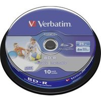 1x10 BD-R Blu-Ray 25GB 6x Speed DL Wide Printable CB