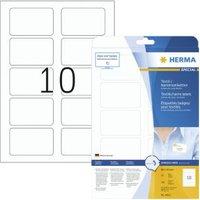 Naam-textieletiketten Herma A4 80x50 mm scheidbaar wit verwijderbaar acetaatzijde 250 st.